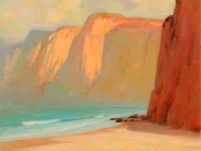 "Alfred R. Mitchell, ""The Cliffs at La Jolla"""